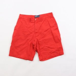 Vtg Ralph Lauren Mens 32 Golf Chino Shorts Red